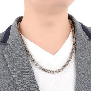 Other - Men's Geometric Painted Titanium Steel Necklaces